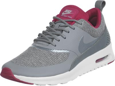 Nike WMNS Air Max Thea Premium Grey Grey Tyrian purple Mulberry Women's Shoe