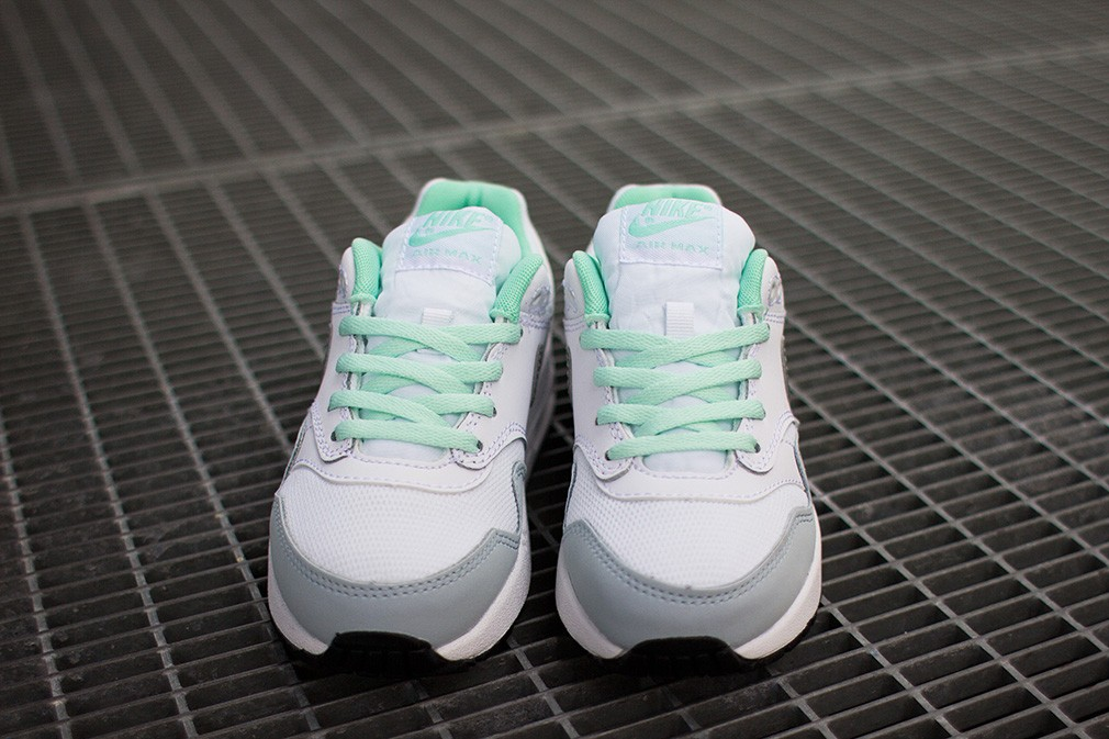 Nike Air Max 1 GS White Glow Shoes White Light Grey Mint