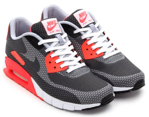 Nike Air Max 90 Jacquard Infrared Release Date Dark Grey White Cool Grey Black Infrared Men's / Womens Shoe