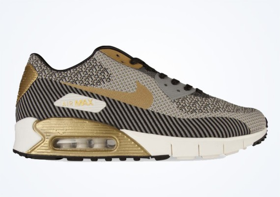 "Nike air max 90 Jacquard ""Gold Trophy"" Premium QS Gold Men's / Womens Shoe"