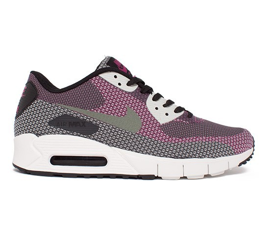 Nike Air Max 90 Jacquard Shoes 631750-001 Black Medium Base Grey Anthracite Bright Mango
