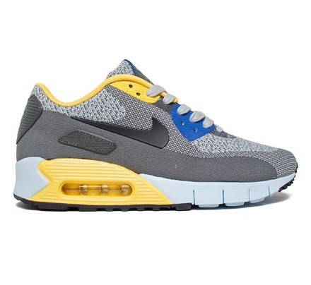 Nike Air Max 90 Jacquard Paris City Pack QS Shoes Wolf Grey Black Vivid Sulfer Game Royal
