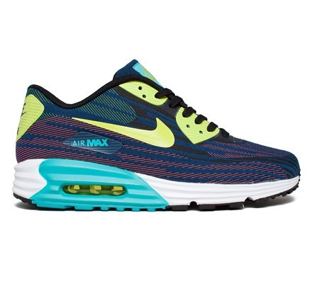 Nike Air Max Lunar 90 Jacquard (JCRD) Men's Shoes Black Force Green Dusty Cactus Brave Blue