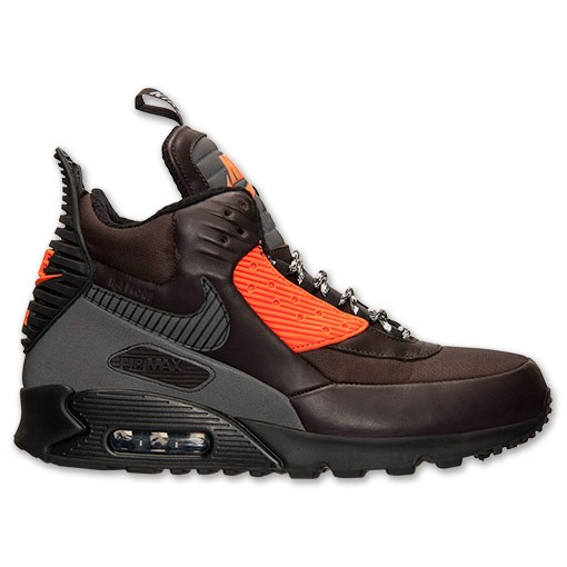 Nike Air Max 90 Sneakerboot Winter Pack 684714 200 Velvet Brown Black Hyper Crimson Men's Shoe