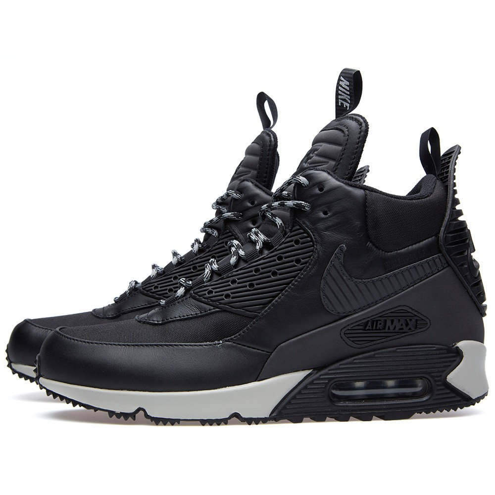 Nike Air Max 90 Sneakerboot Wntr - Triple Black 684714-001 Black White Shoes