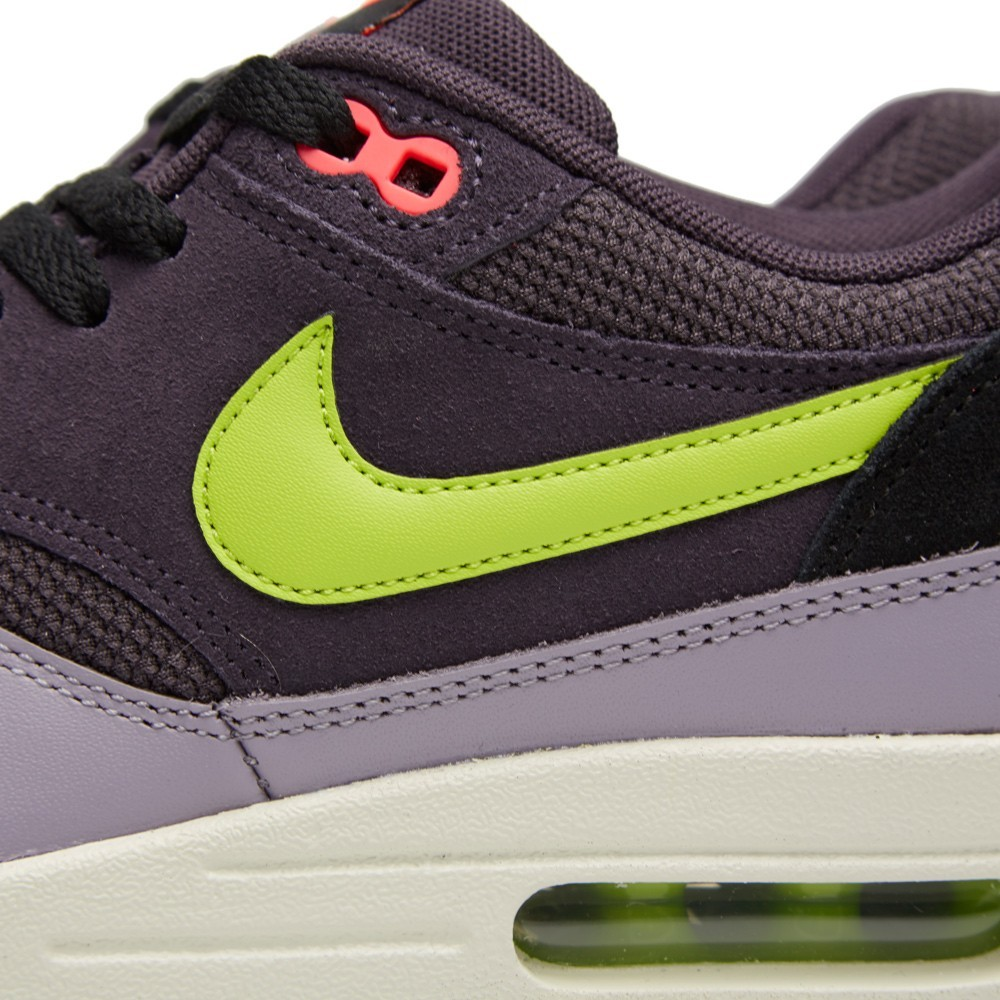 Nike Air Max 1 Essential Shoes 537383-500 Cave Purple Force Green