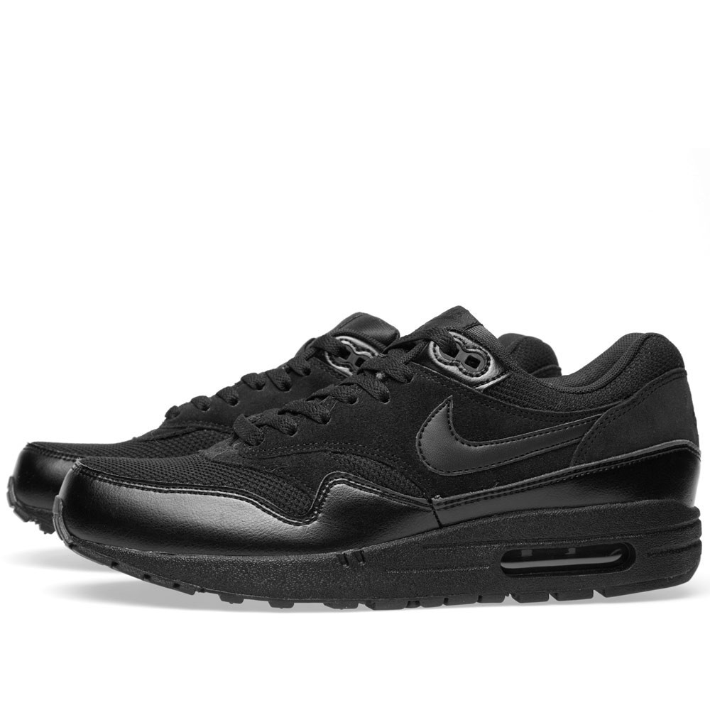 Nike Air Max 1 Essential Triple Black Shoes 537383-020 Black