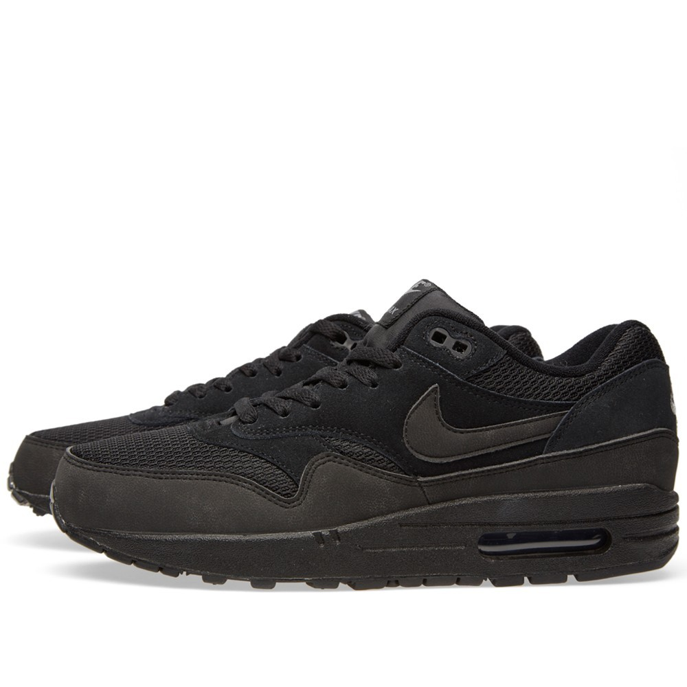 Nike Air Max 1 Essential Shoes 599820-011 Black Cool Grey