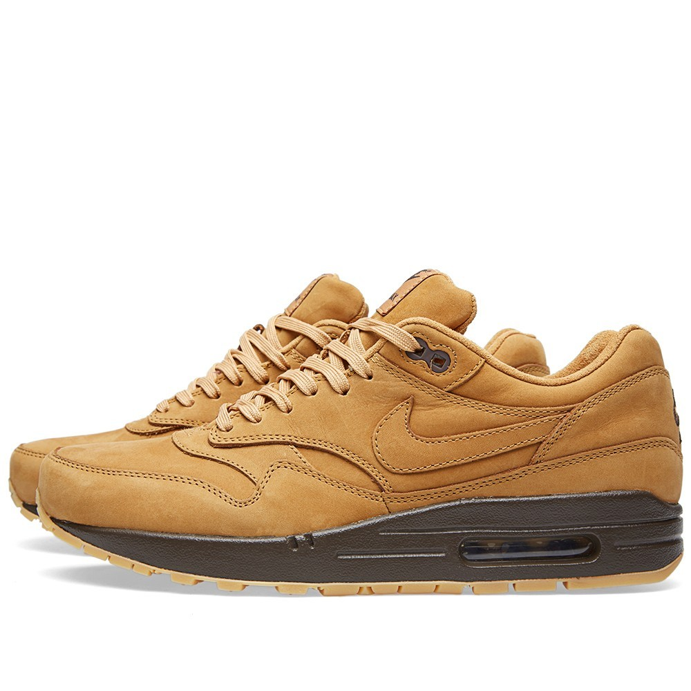 Nike Air Max 1 QS - Flax Shoes 704997-200 Baroque Brown Wheat Leather
