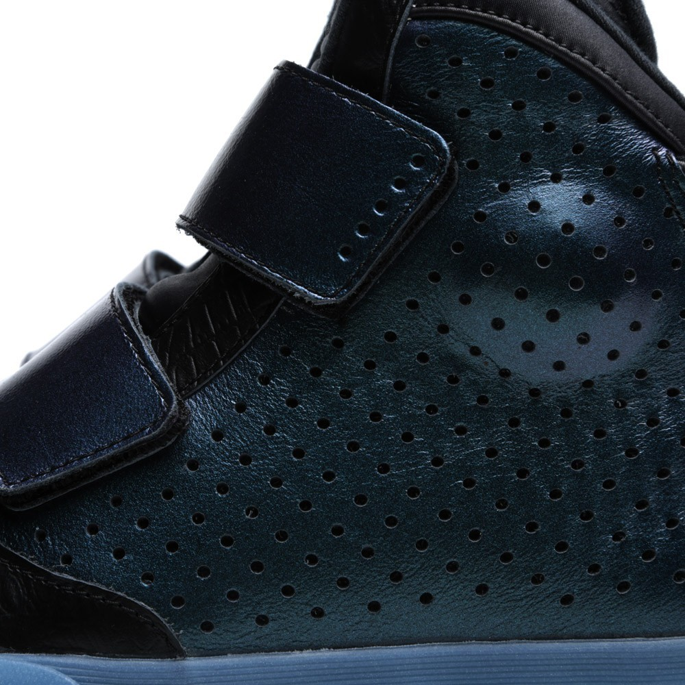 reputable site 644c7 fcd36 Nike Flystepper 2K3 PRM QS Cyperton Iridescent 652122-002 Black Blue High  ...