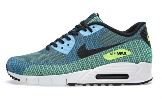 Nike Air Max 90 Jacquard Night Factor Vivid Blue Black Summit White Men's Shoe