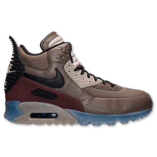Nike Air Max 90 Sneakerboot Ice 684722 200 Dark Dune Black Barkroot Brown Men's Shoe