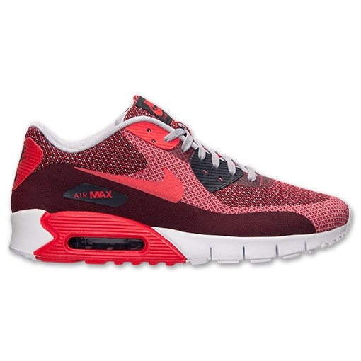 Nike Air Max 90 Jacquard 631750 601 Gym Red Light Crimson Wolf Grey Men's /  Womens