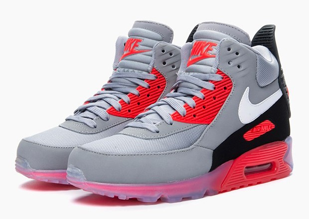 Nike Air Max 90 Sneakerboot Ice Infrared 684722-006 Wolf Grey White Anthracite Shoes