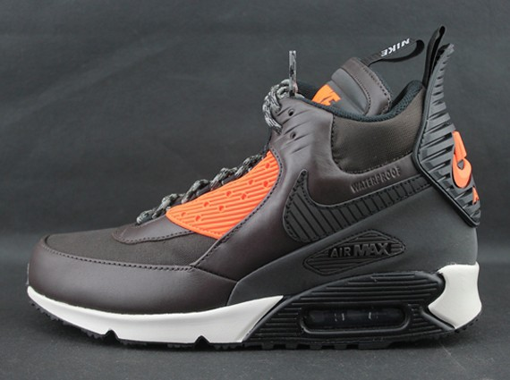 Nike Air Max 90 Sneakerboot Winter Pack 684714-200 Velvet Brown Black Hyper Crimson Men's Shoe
