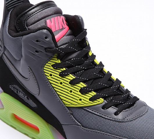 Nike Air Max 90 Sneakerboot Ice 684722-002 Dark Grey Black Volt Shoes