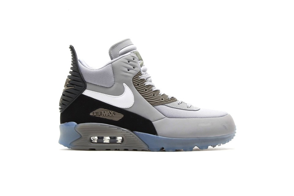 Nike Air Max 90 Sneakerboot Ice Fog Light Grey White Black Shoes
