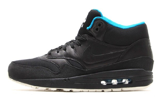 Nike Air Max 1 Mid FB CR7 Cristiano Ronaldo Shoes 685192-002 Black Turquoise