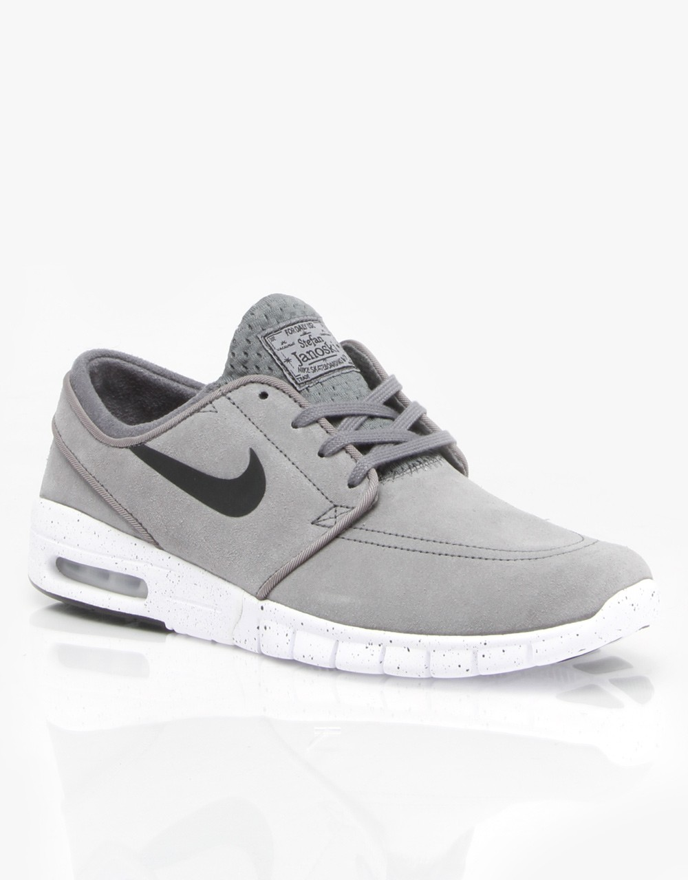 Nike SB Stefan Janoski Max Suede Cool Grey Black White Shoe
