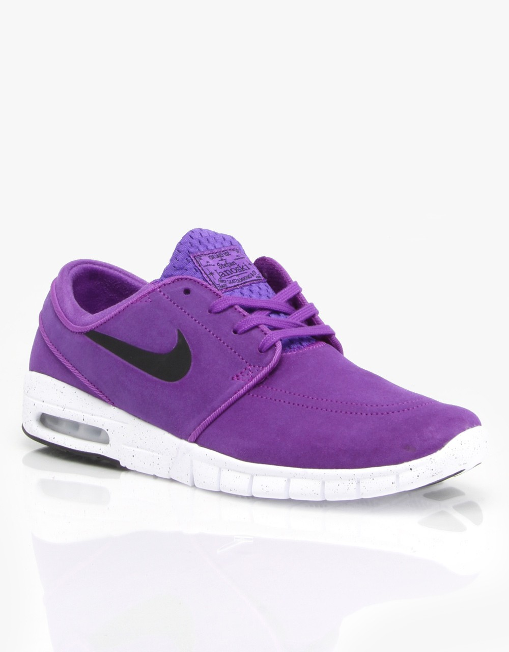 7f47fbd3081c7 Price  63 Nike SB Stefan Janoski Max L Suede Hyper Grape Black White ...