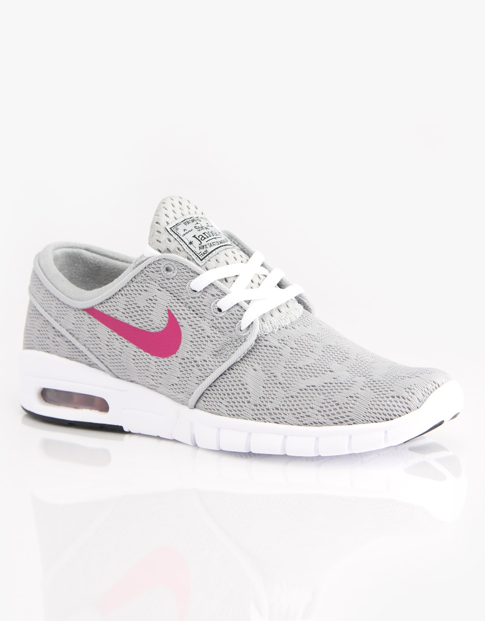 Nike SB Stefan Janoski Max EM Base Grey Bright Magenta White Shoe