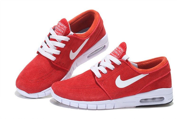 Nike SB Stefan Janoski Max Suede Red White Sneakers