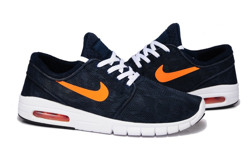 Nike SB Stefan Janoski Max EM Navy Blue Orange White Shoe