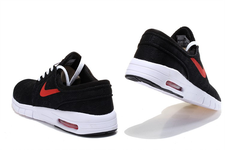 ... Nike SB Stefan Janoski Max EM Black Red White Sneakers ...