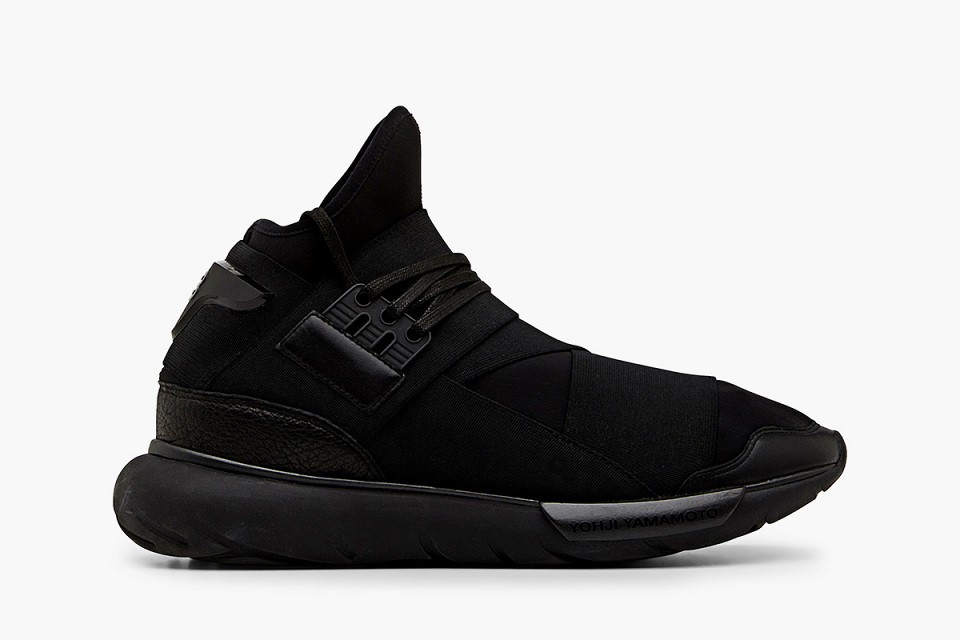 Adidas Y-3 Qasa High Tops by Yohji Yamamoto Gd M21248 Triple All Black Mens and Womens Shoes