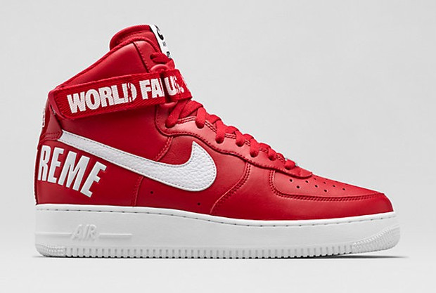 Nike Air Force 1 High x Supreme Red 20th Anniversary Men's and Women's Shoe