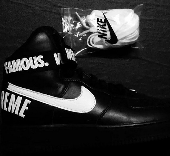 Nike Air Force 1 High Supreme SP Pack Black Men's and Women's Shoe