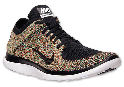 Nike Free 4.0 Flyknit Multicolor 631053 004 Black/Photo Blue/Light Crimson/Volt Men's Running Shoes