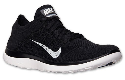 Nike Free 4.0 Flyknit 631050-001 Black/White/Dark Grey Men's Running Shoes