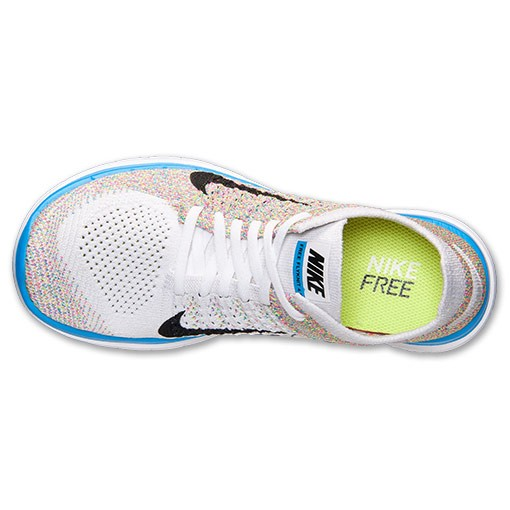 Nike WMNS Free Flyknit 4.0 Multicolor 631050 104 White/Black/Photo Blue/Pink Flash Women's Running Shoe