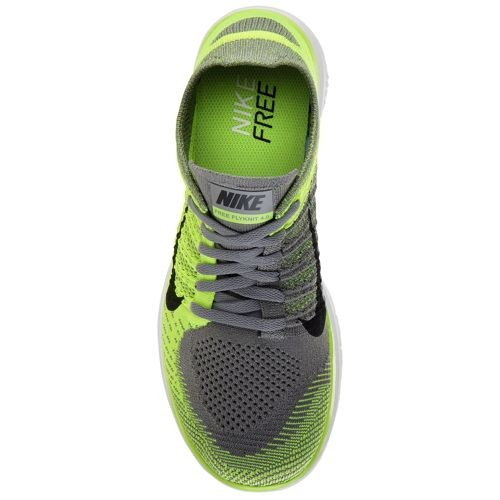 Nike Free 4.0 Flyknit 631053 007 Light Charcoal/Volt/Black/Black Men's Running Shoes