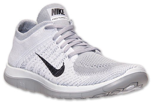 Nike WMNS Free 4.0 Flyknit 631053 101 White/Black/Pure Platinum/Wolf Grey Women's Running Shoe