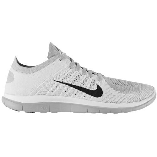 Nike Free 4.0 Flyknit 631053 101 White/Black/Pure Platinum/Wolf Grey Men's Running Shoes