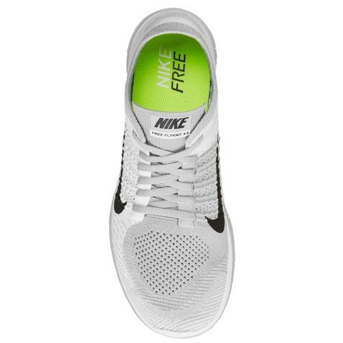 f8c1a5c2d2357 ... Nike Free 4.0 Flyknit 631053 101 White Black Pure Platinum Wolf Grey  Men s ...