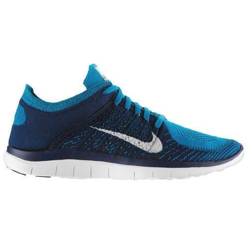 Nike Free 4.0 Flyknit 631053 401 Neo Turquoise/White/Brave Blue/Volt Men's Running Shoes
