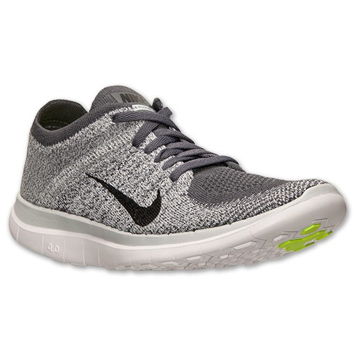 Nike WMNS Free Flyknit 4.0 631050 002 Dark Grey/Black/Pure Platinum/White Women's Running Shoe