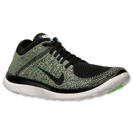 Nike WMNS Free Flyknit 4.0 Multicolor 631050 003 Black Green Women's Running Shoe