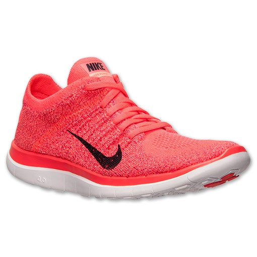 Nike WMNS Free Flyknit 4.0 631050 604 Hyper Punch/Black/Bright Crimson Women's Running Shoe