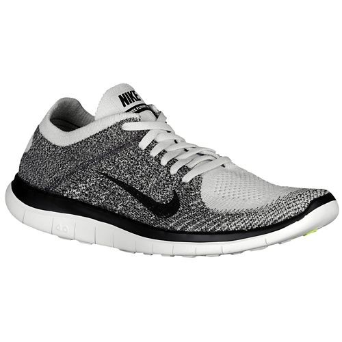 Nike Free 4.0 Flyknit 631053 010 Pure Platinum/Midnight Fog/Light Charcoal/Black Men's Running Shoes