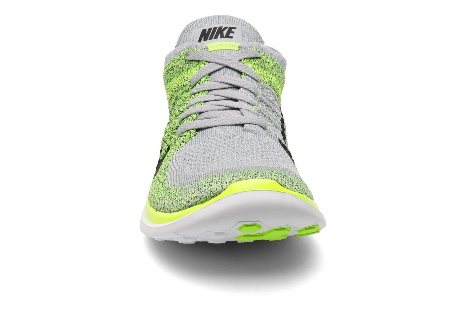 big sale 0d033 1efd2 Price $64.5 Nike Free 4.0 Flyknit Wolf Grey/Black-Volt ...