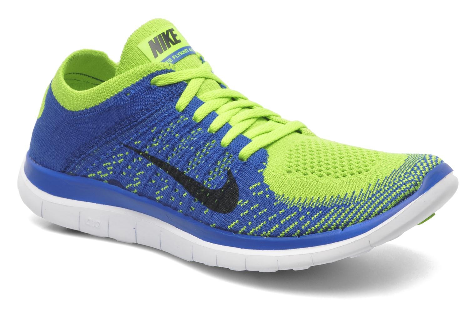 Nike Free 4.0 Flyknit Game Royal/Black-Electric Green-White Men's Running  Shoes