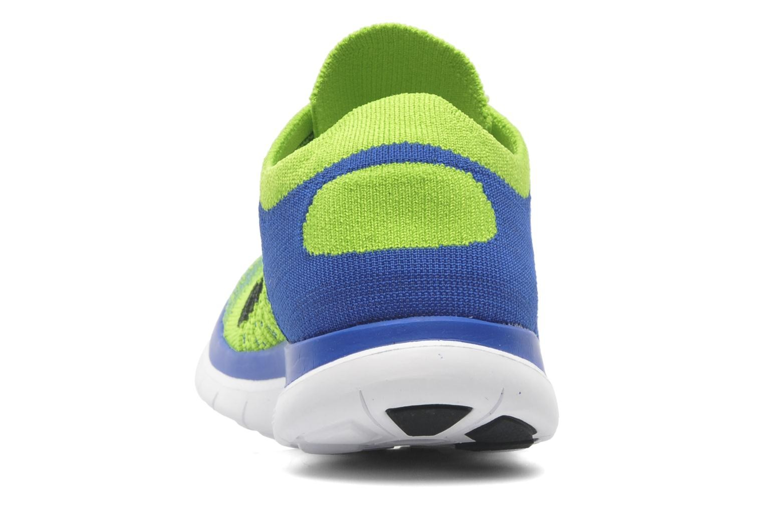 hot sale online b5215 7a0c3 ... Nike Free 4.0 Flyknit Game Royal Black-Electric Green-White Men s  Running Shoes ...