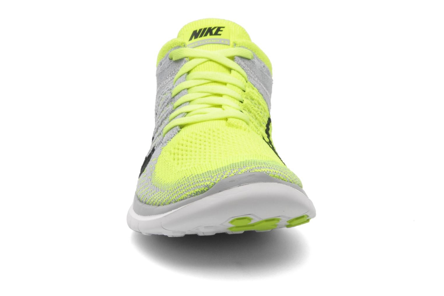 Nike Free 4.0 Flyknit Wolf Grey/Black-Volt-White Men's Running Shoes