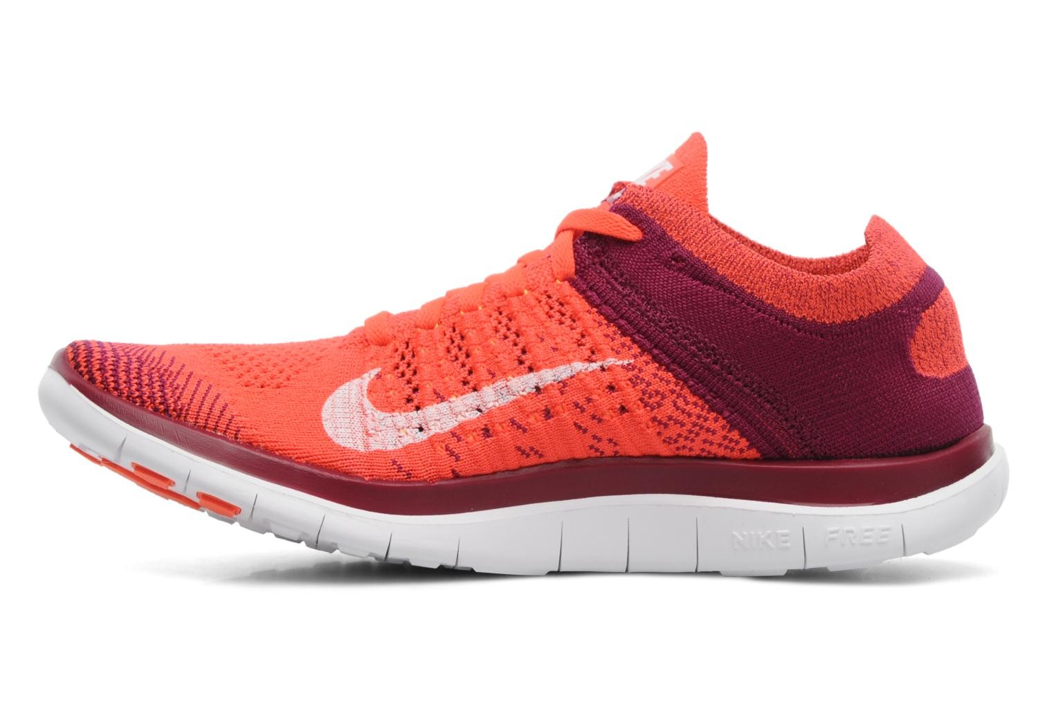 Nike WMNS Free 4.0 Flyknit Bright Crimson-White-Raspberry Red-Laser Orange Women's Running Shoe