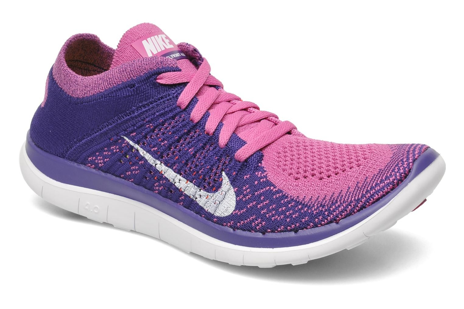 Nike WMNS Free 4.0 Flyknit 631050 615 Club Pink/White-Court Purple Women's Running Shoe
