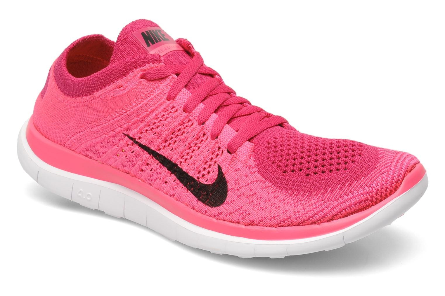 Nike WMNS Free 4.0 Flyknit Pink Flash/Black-Fireberry-White Women's Running Shoe